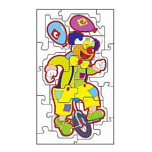 Brinquedo Educativo Quebra Cabeça Gig. Palhaço Equil. Em Mdf Com 24 Peças - CARLU