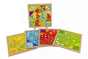 Mosaico Fantastico Kit Com 4 Base Mdf 144 Peças