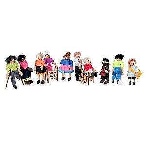 Brinquedo Educativo Familia Terapêutica Inclusao Social Em Mdf 10 Personagens Mdf - CARLU