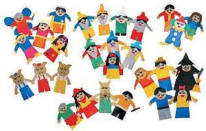 Brinquedo Educativo Dedoche Contos E Estorias Infantisfeltro 28 Personagens - CARLU
