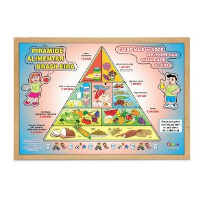 Quebra Cabeça Pirâmide Alimentar Brasileira Base Mdf
