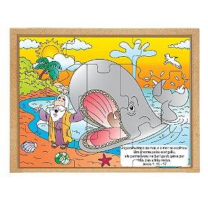 Quebra Cabeça Biblico Jonas E A Baleia Base Mdf 11 Peças