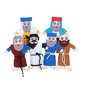 Brinquedo Educativo Religiosos Dedoches Passagens Biblicas 31 Personagens - CARLU