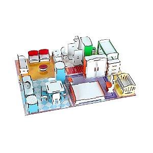 Brinquedo Arquitetando Ideias Em Mdf Com 45 Peças