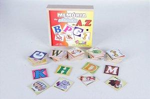 Brinquedo Educativo Memória Do Alfabeto De A A Z - CARLU