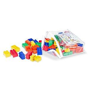 Monte Rápido 80 Peças Emb. Plastica Com Ziper