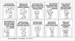 Carimbo psico avaliacao II - Mad. com 10 pecas - Cx. papel