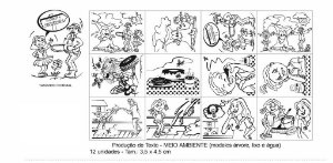 Carimbo Producao De Texto Meio Ambiente 12 Peças - CARLU