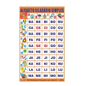 Alfabeto silabário simples - Emb. plástico bolha