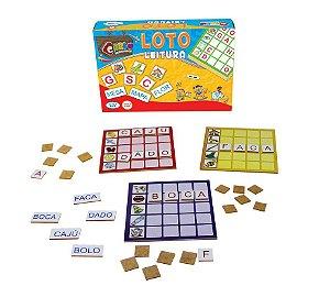 Brinquedo Educativo Loto Leitura Em Mdf 130 Peças - CARLU