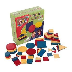 Brinquedo Educativo Blocos Lógicos Mdf 48 Peças - CARLU