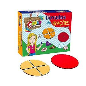 Brinquedo Educativo Círculos De Frações Em Mdf De - CARLU