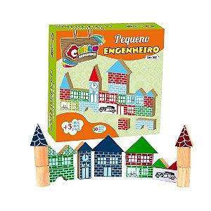 Brinquedo Educativo Pequeno Engenheiro Em Mdf Com 50 Peças . - CARLU