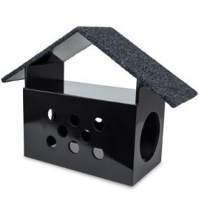 Carlu Pet House - Arranhador Little House Preto