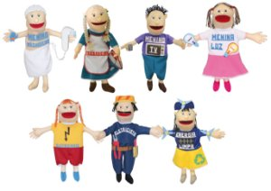 Brinquedo Educativo Kit Fantoches 8 Gigantes + Livro Economizando Energia - CARLU