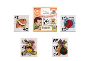 Brinquedo Educativo Quebra Cabeça Silabico Brinquedos Com 16 Peças - FUNDAMENTAL
