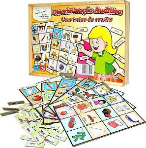 Brinquedo Educativo Discriminaçao Auditiva Com Treino Da Escrita Com 78 Peças - FUNDAMENTAL