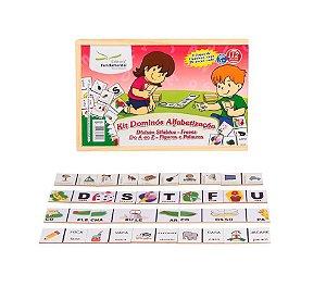 Kit Dominos Alfabetizaçao Com 4 Jogos