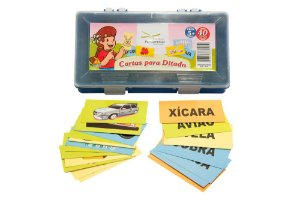 Brinquedo Educativo Cartas Para Ditado Plastica Com 40 Cartas - FUNDAMENTAL