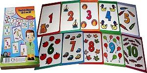 Brinquedo Educativo Varal De Números 10 Placas Em Mdf Med. 30x21 - FUNDAMENTAL