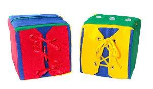 Cubos De Atividades Duplo Com 08 Atividades 16x16x16cm