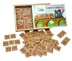 Jogo Educativo Alfabeto Silabico Com 320 Peças Em Mdf Madeira - FUNDAMENTAL