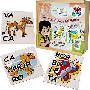 Brinquedo Educativo Quebra Cabeça Silabico Animais Com 18 Peças - FUNDAMENTAL