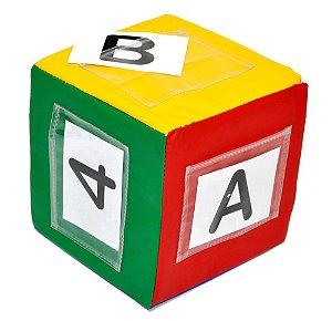 Cubo Variavel + 40 Cartas Alfabeto E Numeros