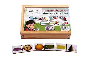 Dominó Educativo Associaçao Geometrica Jogo Com 28 Peças