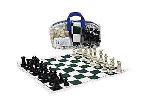Brinquedo Educativo Jogo De Xadrez Escolar 28x28 Tab. Em Napa Emborrachado + Regras - FUNDAMENTAL