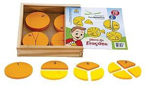 Discos de Frações – Cx. em madeira c/12 discos