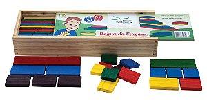 Reguas de Frações - 67 peças fracionadas em madeira