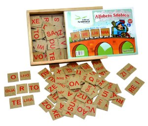 Jogo Educativo Alfabeto Silabico Com 160 Peças Em Mdf Madeira - FUNDAMENTAL