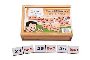 Dominó Multiplicaçao Jogo Com 28 Peças