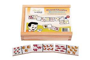Brinquedo Educativo Dominó Quantidades Jogo Com 28 Peças - FUNDAMENTAL