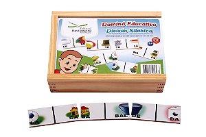 Brinquedo Educativo Dominó Divisao Silabica Jogo Com 28 Peças - FUNDAMENTAL