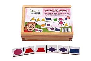 Brinquedo Educativo Dominó Formas Geométricas Jogo Com 28 Peças - FUNDAMENTAL