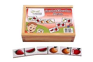 Domino Frutas Jogo Com 28 Peças