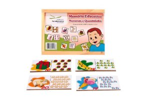 Brinquedo Educativo Memória Numerais E Quantidades Jogo Com 40 Peças - FUNDAMENTAL