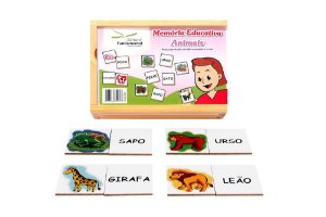 Memoria Educativa Animais Jogo Com 40 Peças