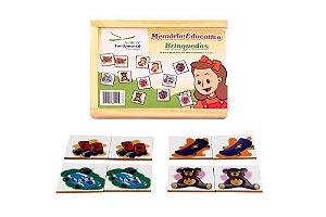 Brinquedo Educativo Memória Brinquedos Jogo Com 40 Peças - FUNDAMENTAL