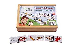 Dominó Educativo Associaçao De Ideias Jogo Com 28 Peças