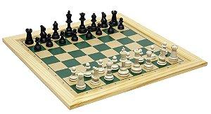 Jogo De Xadrez Tabuleiro 39x39 Com Moldura