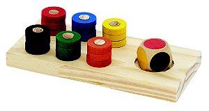 Jogo De Cores Base + Dado Em Cores + 18 Argolas Coloridas