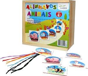 Alinhavos Animais Com 06 Peças + 06 Cadarços