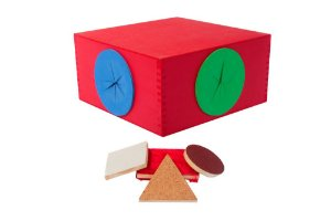 Brinquedo Educativo Caixa Tatil Em Madeira 2 Bocas + 10 Peças - FUNDAMENTAL