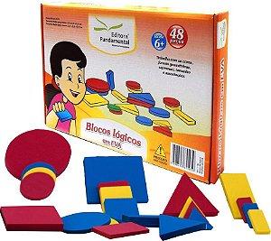 Brinquedo Educativo Blocos Logicos Em E.V.A  48 Peças Caixa Cartonada - FUNDAMENTAL