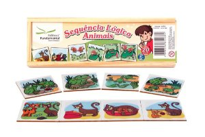 Brinquedo Educativo Sequencia Lógica Animais Com 20 Peças - FUNDAMENTAL