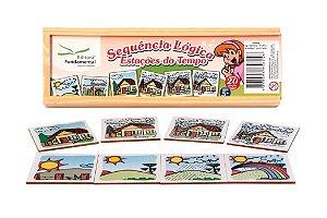 Brinquedo Educativo Sequencia Lógica Tempo Com 20 Peças - FUNDAMENTAL