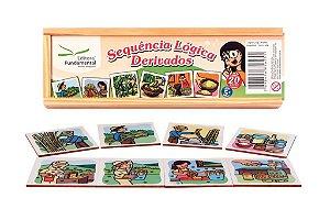 Brinquedo Educativo Sequencia Lógica Derivados Com 20 Peças - FUNDAMENTAL